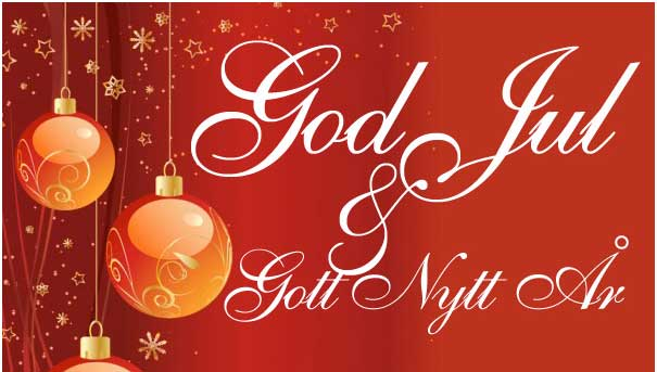 Önskar er alla en God Jul och Gott nytt år