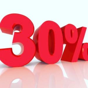 30% på Didriksons kläder